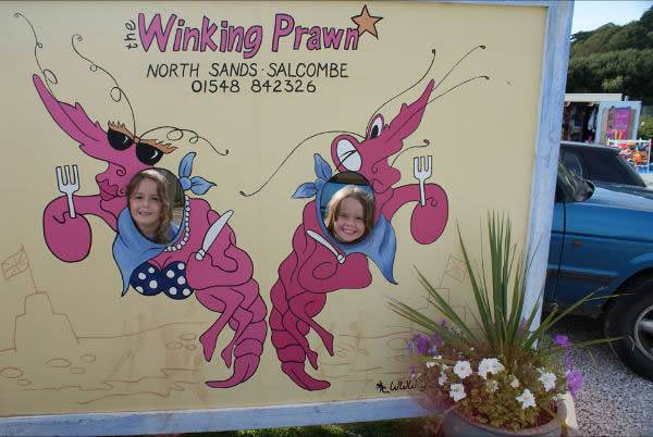 Winking prawn