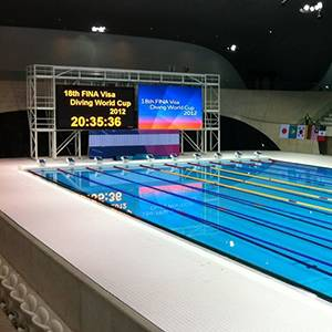 Inside London's Olympic Aquatics Centre