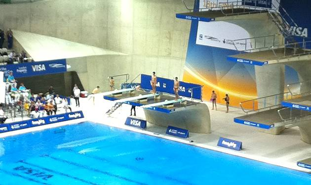 London Olympics - Aquatics centre divers