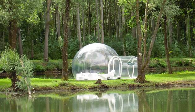 bubble hotel in forest
