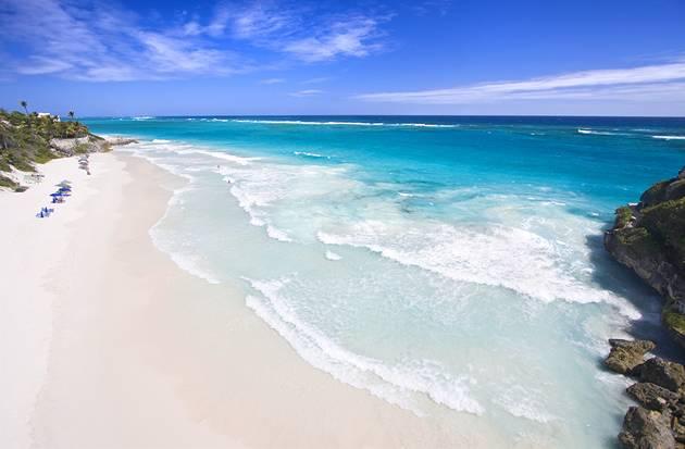 Holidays for a president - Crane Beach in Barbados