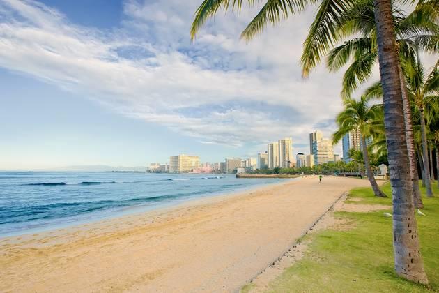 Holidays for a president - Waikiki Beach in Hawaii