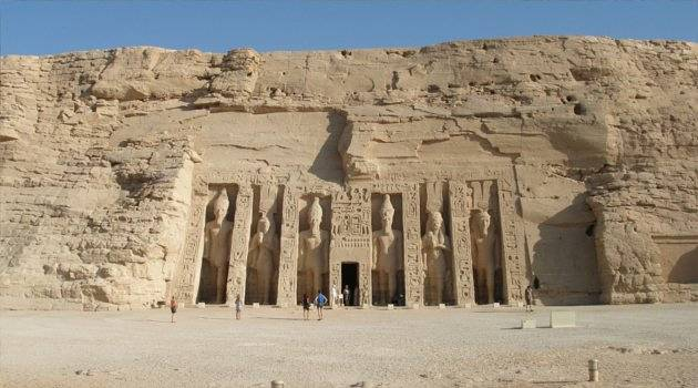 impressive rock-hewn temple