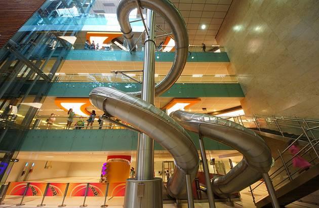 Slide at Singapore Changi Airport