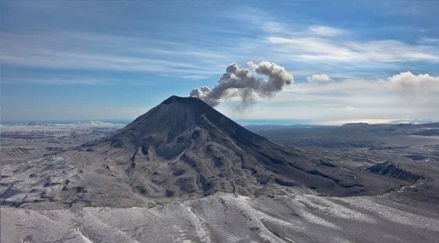 Volcano with ash, Kamkatcha