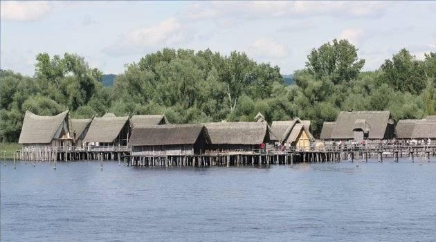 Recreated pile dwellings, Germany