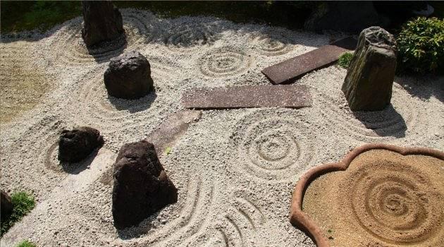 Swirling Sand, Zen Garden of Kyoto
