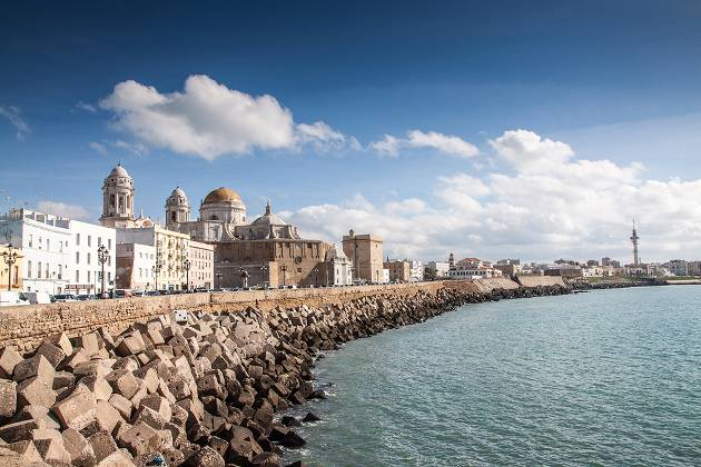 Cadiz waterfront, Costa de la Luz, Spain