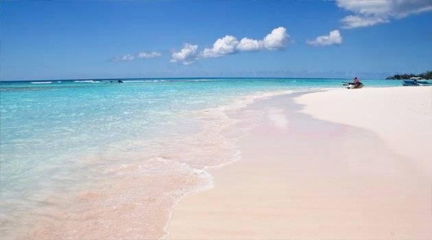 Idyllic pink beach