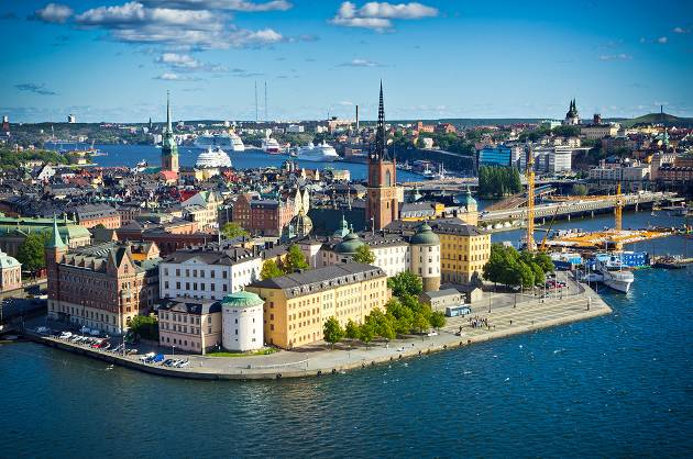 Panoramic view of Stockholm Old City