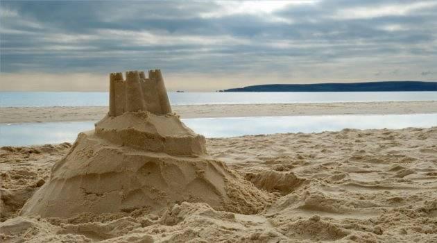 Sandcastle in Bournemouth