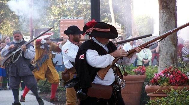 Pirates fight in St Augustine