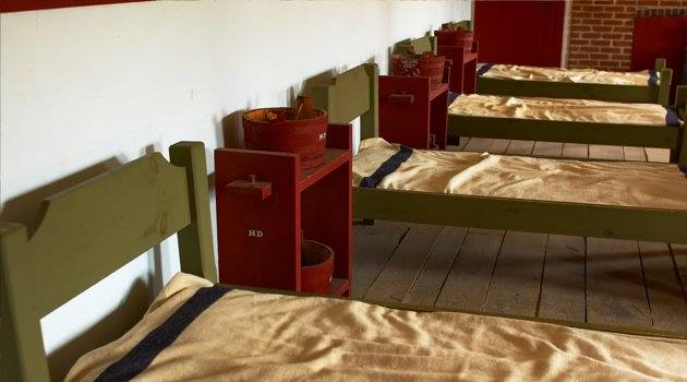 1800s army barrack beds