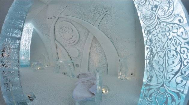 fancy designs at the hotel de glace