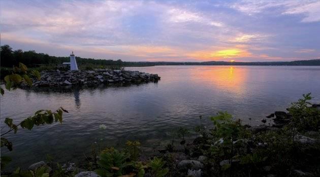The lake on Manitoulin Island