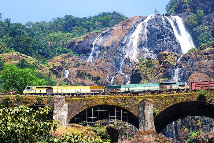 Train in Goa, India