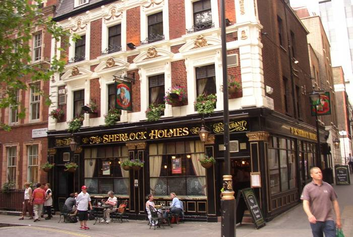 The Sherlock Holmes pub in London