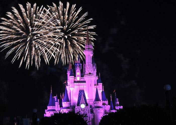 Fireworks at Magic Kingdom, Orlando, Florida
