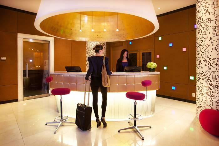 OPUS Hotel reception, Vancouver