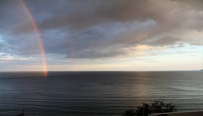 rainbow over sea at Bournemouth