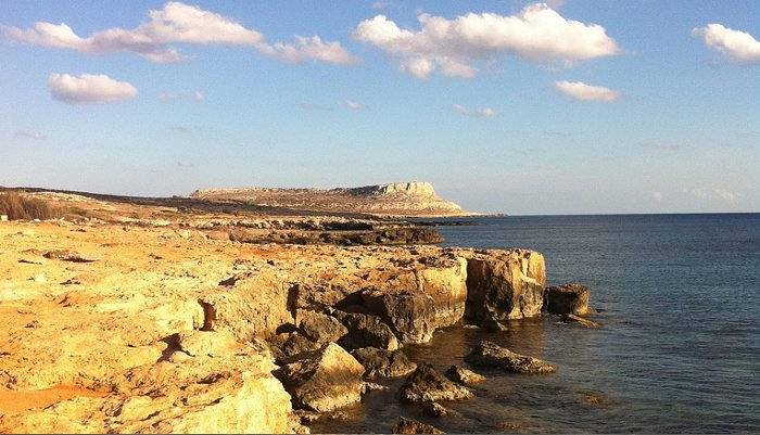 the coastline of cape greco