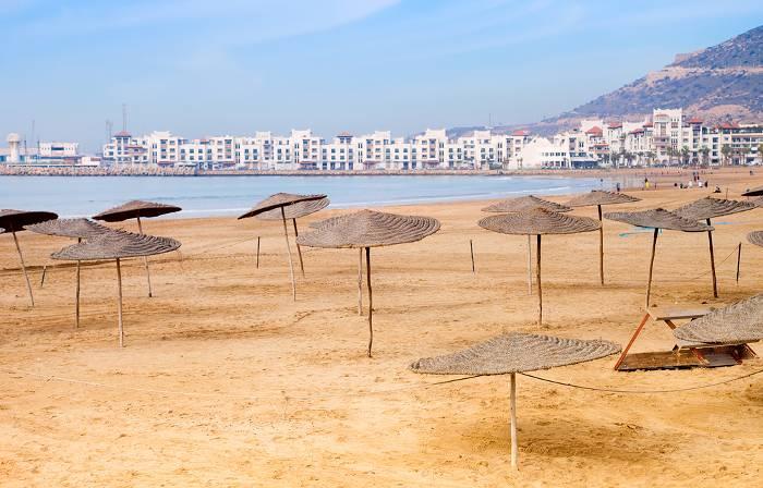Sandy beach, Agadir